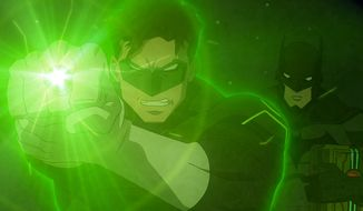 Batman and Green Lantern team up  in Warner Bros. AnimationÕs latest direct to Blu-ray, PG-13 cartoon Justice League: War.
