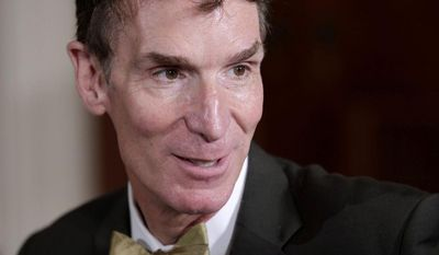 "**FILE** Bill Nye, host of television's ""Bill Nye The Science Guy,"" attends a White House science fair on Oct. 18, 2010. (Associated Press)"