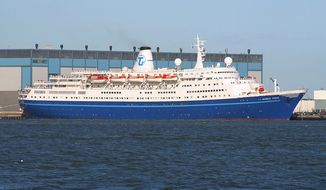 Transocean Tours cruise ship MS Marco Polo in Helsinki West Harbour. (Wikimedia Commons)