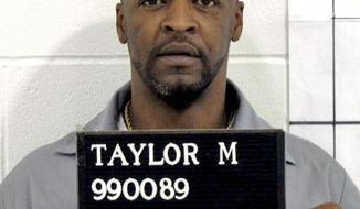 In this handout photo from the Missouri Correctional offices, Michael Anthony Taylor of Kansas City is shown. The Apothecary Shoppe, of Tulsa, submitted a sealed response to Taylor's lawsuit accusing it of illegally providing Missouri with a made-to-order drug to be used in his lethal injection. The company hasn't publicly acknowledged that it supplies a compounded version of pentobarbital to Missouri for use in lethal injections, as Taylor alleges, and says it can't because of a Missouri law requiring the identities of those on the state's execution team to be kept confidential. (AP Photo/Missouri Correctional Office)