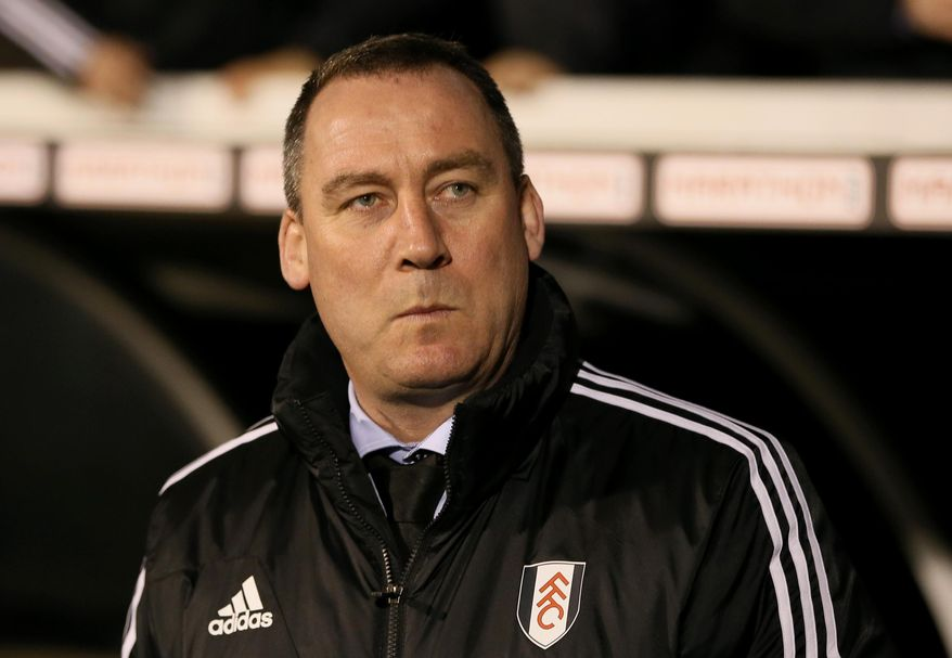 """FILE - In this file photo dated Tuesday, Feb. 4, 2014, Fulham's soccer club manager Rene Meulensteen looks out from the technical area prior to their 4th round replay English FA Cup soccer match between Fulham and Sheffield United at Craven Cottage stadium in London.  Fulham fired manager Rene Meulensteen and appointed German coach Felix Magath on Friday Feb. 14, 2014, saying """"action was required"""" in its bid to avoid relegation from the English Premier League. (AP Photo/Alastair Grant, FILE)"""