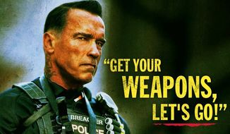 "Arnold Schwarzenegger's new action thriller ""Sabotage"" open in March. But next week, he's out to battle political gridlock with the help of 10 assorted experts. (arnold schwarzenegger)"
