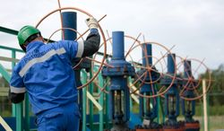 Pumped up: Salym Petroleum Development workers soon could be drilling for shale, or tight, oil. A venture between Gazprom Neft and Shell have announced plans to drill the first horizontal appraisal well in Russia. (Associated Press)