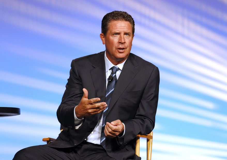 "FILE - In this Sept. 21, 2012 file photo, former Miami Dolphins quarterback Dan Marino appears at the AARP convention in New Orleans. Longtime analysts Dan Marino and Shannon Sharpe will not return to CBS' ""The NFL Today"" pregame show. CBS chief Sean McManus said in a statement that ""Dan and Shannon are true Hall of Famers on the field and in front of the camera. As they pursue other professional opportunities, we thank them for their hard work and dedication and wish them nothing but the best."" (AP Photo/Bill Haber, File)"