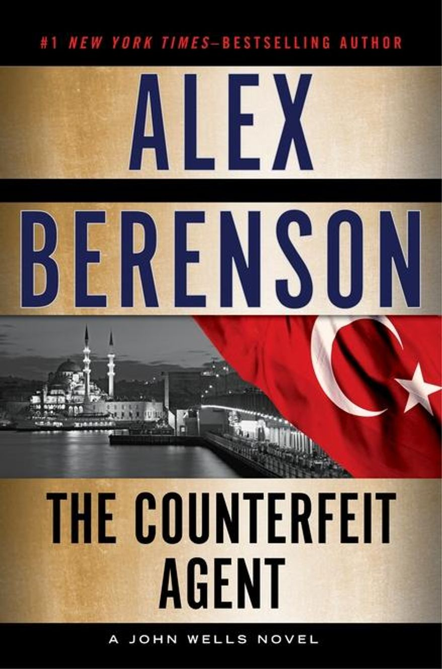 """This book cover image released by Putnam shows """"The Counterfeit Agent,"""" by Alex Berenson. (AP Photo/Putnam)"""