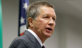 Ohio Gov. John Kasich has had some ups and downs in his first term, but favorable/unfavorable polling finds him in good shape. (Associated PRess)