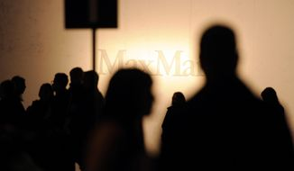 Guests wait for the start of the Max Mara women's Fall-Winter 2014-15 collection, part of the Milan Fashion Week, unveiled in Milan, Italy, Thursday, Feb. 20, 2014. (AP Photo/Giuseppe Aresu)