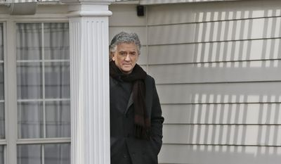 In this Wednesday, Feb. 5, 2014 photo, actor Patrick Duffy rehearses a scene for the television series Dallas during production at Southfork Ranch in Parker, Texas. (AP Photo/LM Otero)