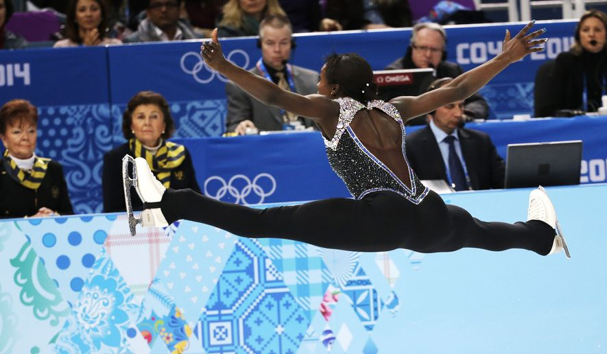 Mae Berenice Meite of France competes in the women's free skate figure skating finals at the Iceberg Skating Palace during the 2014 Winter Olympics, Thursday, Feb. 20, 2014, in Sochi, Russia. (AP Photo/Bernat Armangue)