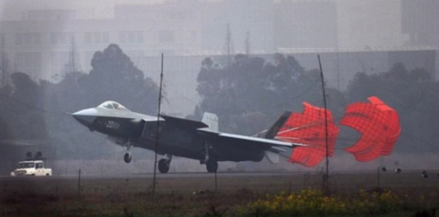 "China's ""Mighty Dragon"" J-20 stealth jet. (Image: Chinese Internet)"