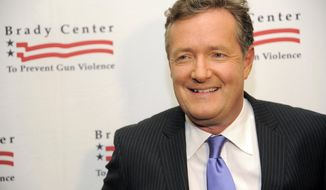 "FILE - In this May 7, 2013, file photo, honoree Piers Morgan poses at the Brady Campaign to Prevent Gun Violence Los Angeles Gala at The Beverly Hills Hotel in Beverly Hills, Calif. CNN said Sunday, Feb. 23, 2014, that the prime-time talk show ""Piers Morgan Live"" is coming to an end and that the show's final airdate has yet to be determined. (Photo by Chris Pizzello/Invision/AP, File)"