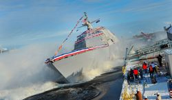 Defense Secretary Chuck Hagel announced Monday the $40 billion LCS will not go beyond 32 ships, instead of a planned 52, at least for now. (PRNewsfoto via associated Press)