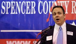 Strategists say Louisville businessman Matt Bevin has failed to gain traction in his race against Sen. Mitch McConnell, Kentucky Republican, despite launching a series of attack ads against the Senate Majority Leader. (Associated Press)