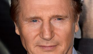 "Liam Neeson arrives at the Los Angeles premiere of ""Non-Stop"" at the Westwood Regency Village Theater on Monday, Feb. 24, 2014. (Photo by Jordan Strauss/Invision/AP)"