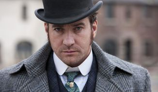 """FILE - In this undated publicity file photo released by BBC shows, actor Matthew Macfadyen stars as Detective Inspector Edmund Reid, in a scene from """"Ripper Street"""" on BBC America. The Victorian detective drama was canceled by the BBC earlier this year after two seasons because of poor ratings. But after an online campaign by fans, it is returning for a third series through a deal between the British broadcaster and online retailer Amazon. (AP Photo/BBC, Tiger Aspect, Jonathan Hession, File)"""
