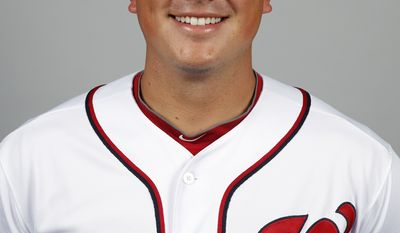 This is a 2014 photo of Sammy Solis of the Washington Nationals baseball team. This image reflects the Nationals active roster as of, Sunday, Feb. 23, 2014, when this image was taken. (AP Photo/Alex Brandon)