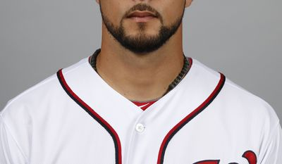 This is a 2014 photo of Xavier Cedeno of the Washington Nationals baseball team. This image reflects the Nationals active roster as of, Sunday, Feb. 23, 2014, when this image was taken. (AP Photo/Alex Brandon)