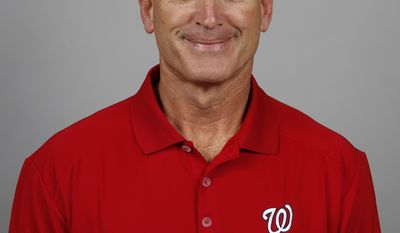 This is a 2014 photo of John Philbin of the Washington Nationals baseball team. This image reflects the Nationals active roster as of, Sunday, Feb. 23, 2014, when this image was taken. (AP Photo/Alex Brandon)