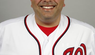 This is a 2014 photo of Ali Modami of the Washington Nationals baseball team. This image reflects the Nationals active roster as of, Sunday, Feb. 23, 2014, when this image was taken. (AP Photo/Alex Brandon)