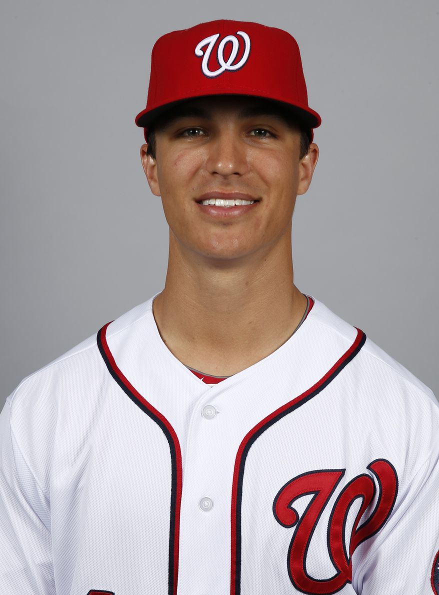 This is a 2014 photo of pitcher Jordan Zimmermann of the Washington Nationals baseball team. This image reflects the Nationals active roster as of, Sunday, Feb. 23, 2014, when this image was taken. (AP Photo/Alex Brandon)