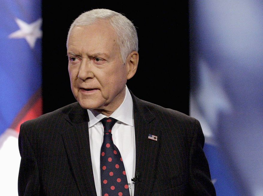 """Sen. Orrin Hatch, Utah Republican, said """"this isn't right and has to be stopped"""" as America's Health Insurance Plans reported that Obamacare cuts would trim payment rates to Medicare Advantage plans by nearly 6 percent in 2015. (Associated Press photographs)"""