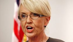 The uproar over the decision by Arizona Gov. Jan Brewer on Wednesday to veto the religious freedom bill in her home state will have a chilling effect on a handful of similar bills making their way through other state legislatures. (Associated Press)