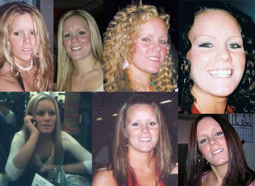 This undated family photo combination courtesy of Mary Borchers shows images of Jessie Foster. Foster, a Canadian, went missing from North Las Vegas in 2006. (AP Photo/Family photo via The Las Vegas Sun, Courtesy Mary Borchers)