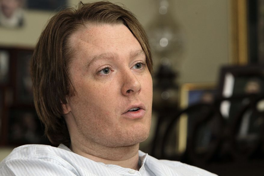 In this May 28, 2010 photo Clay Aiken is seen during an interview in Raleigh, N.C. (AP Photo/Gerry Broome)