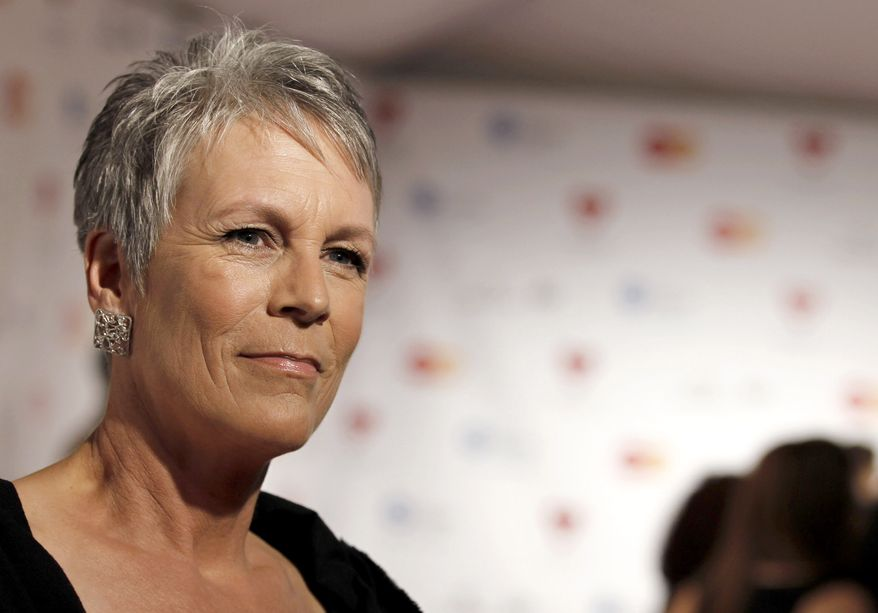 **FILE** Jamie Lee Curtis arrives in Los Angeles at the MusiCares Person of the Year gala honoring Barbra Streisand on Feb. 11, 2011. (Associated Press)