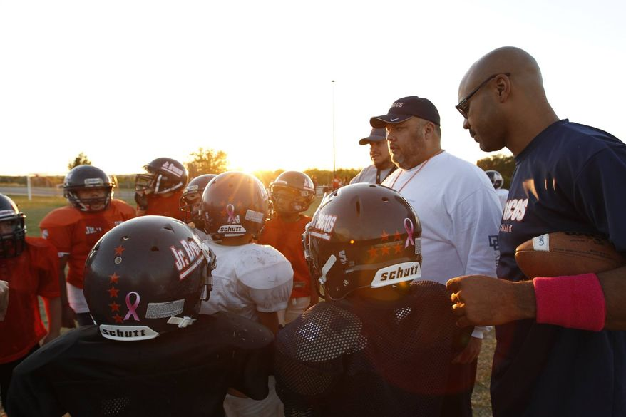 """The Jr. Broncos are a team in need of a win. Will they find something to unite around, or will the season slip away? A promo image from Esquire Network's """"Friday Night Tykes."""""""