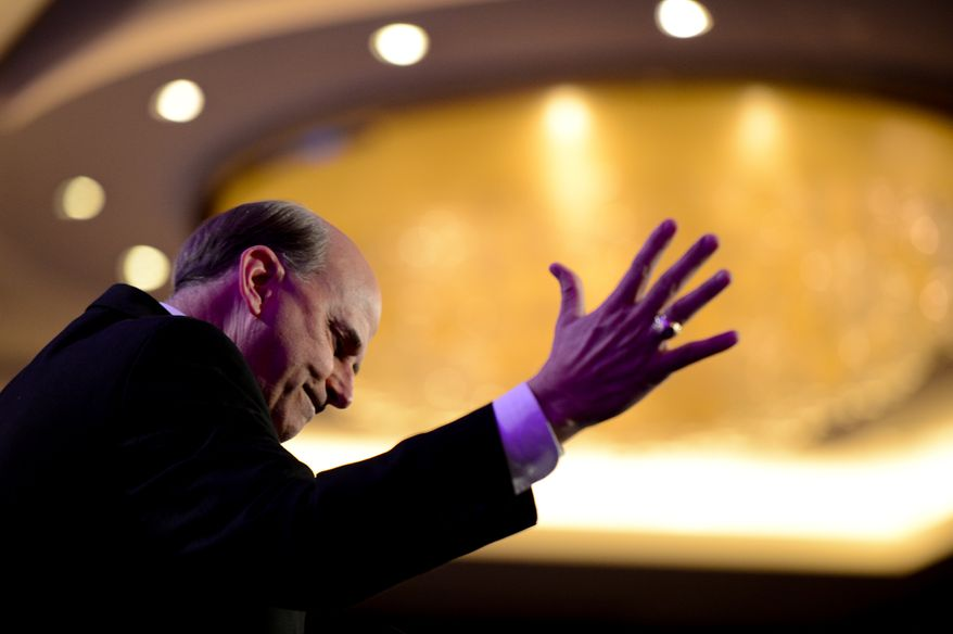 ** FILE ** Rep. Louie Gohmert (R-Texas) speaks at the Tea Party Patriots 5th Anniversary Celebration at the Hyatt Regency Capitol Hill, Washington, D.C., Thursday, February 27, 2014. (Andrew Harnik/The Washington Times)