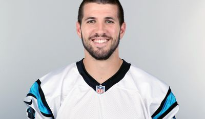 FILE - This is a 2013 file photo showing Graham Gano of the Carolina Panthers NFL football team. Gano is the first of Carolina's 20 soon-to-be unrestricted free agents to re-sign with the Panthers. Carolina announced Friday, Feb. 28, 2014, that Gano agreed to a four-year contract.  (AP Photo/File)