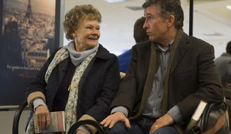 "This image released by The Weinstein Company shows Judi Dench, left, and Steve Coogan in a scene from ""Philomena."" The film is nominated for an Oscar for best motion picture of the year, along with three other Oscar nominations, including Dench's nomination for performance by an actress in a leading role. This year's best picture race at the 86th Academy Awards on Sunday, March 2, 2014, has shaped up to be one of the most unpredictable in years.  (AP Photo/The Weinstein Company, Alex Bailey, file)"