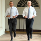 "President Obama and Vice President Joseph R. Biden exercise at the White House as part of First Lady Michelle Obama's ""Let's Move!"" campaign."