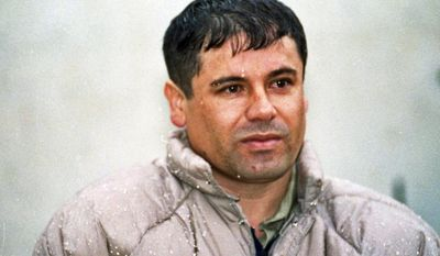 """FILE - In this June 10, 1993, file photo, Joaquin Guzman Loera """"El Chapo"""" Guzman, is shown to the media after his arrest at the high security prison of Almoloya de Juarez, on the outskirts of Mexico City. Guzman, the one they called """"shorty"""" because of his 5'6"""" frame, was a man who grew up poor and had no formal education, would rise from a small-time Mexican marijuana producer to lead the world's most powerful drug cartel. (AP Photo/Damian Dovarganes, File)"""