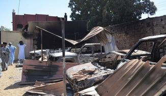 Boko Haram has destroyed hundreds of vehicles during a terror spree in Bama, Nigeria. The Islamic extremists in Nigeria's northeast also killed 115 people and razed more than 1,500 buildings. (Associated Press)