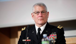 Army Gen. Carter Ham has testified that he had told Defense Secretary Leon E. Panetta and Army Gen. Martin E. Dempsey, the Joint Chiefs chairman, that Americans in Benghazi were under attack by terrorists, not demonstrators. He said both men agreed. (Associated Press)