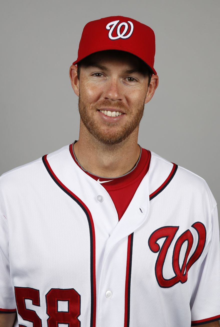 This is a 2014 photo of Doug Fister of the Washington Nationals baseball team. This image reflects the Nationals active roster as of, Sunday, Feb. 23, 2014, when this image was taken. (AP Photo/Alex Brandon)