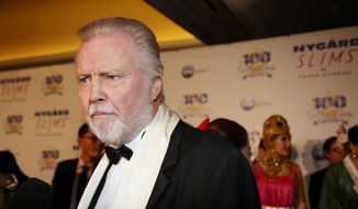 Jon Voight arrives at the 24th Night of 100 Stars Oscars Viewing Gala at The Beverly Hills Hotel on Sunday, March 2, 2014, in Beverly Hills, Calif. (Photo by Annie I. Bang/Invision/AP)