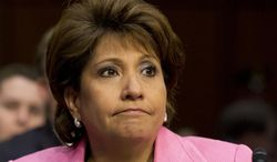 """FILE - This April 22, 2013 file photo shows Janet Murguia, president and CEO, National Council of La Raza, on Capitol Hill in Washington. Murguia called President Barack Obama the """"deporter in chief,"""" denouncing the administration's deportation of nearly 2 million immigrants. Murguia also directed her anger and frustration at Republicans in the House of Representatives for stalling on immigration legislation, which is languishing some eight months after the Senate passed a bipartisan, comprehensive bill. Murguia made the comments at an awards dinner Tuesday night, March 4, 2014. (AP Photo/Jacquelyn Martin, File)"""