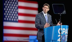 "Rep. Paul Ryan, Wisconsin Republican and chairman of the House Budget Committee, called President Obama's fiscal year 2015 budget ""a campaign brochure"" and said the president seems determined to do nothing about fiscal challenges. (Associated Press)"