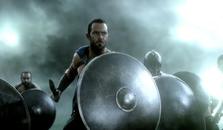 "This image released by Warner Bros. Pictures shows  Sullivan Stapleton in ""300: Rise of an Empire."" (AP Photo/Warner Bros. Pictures)"
