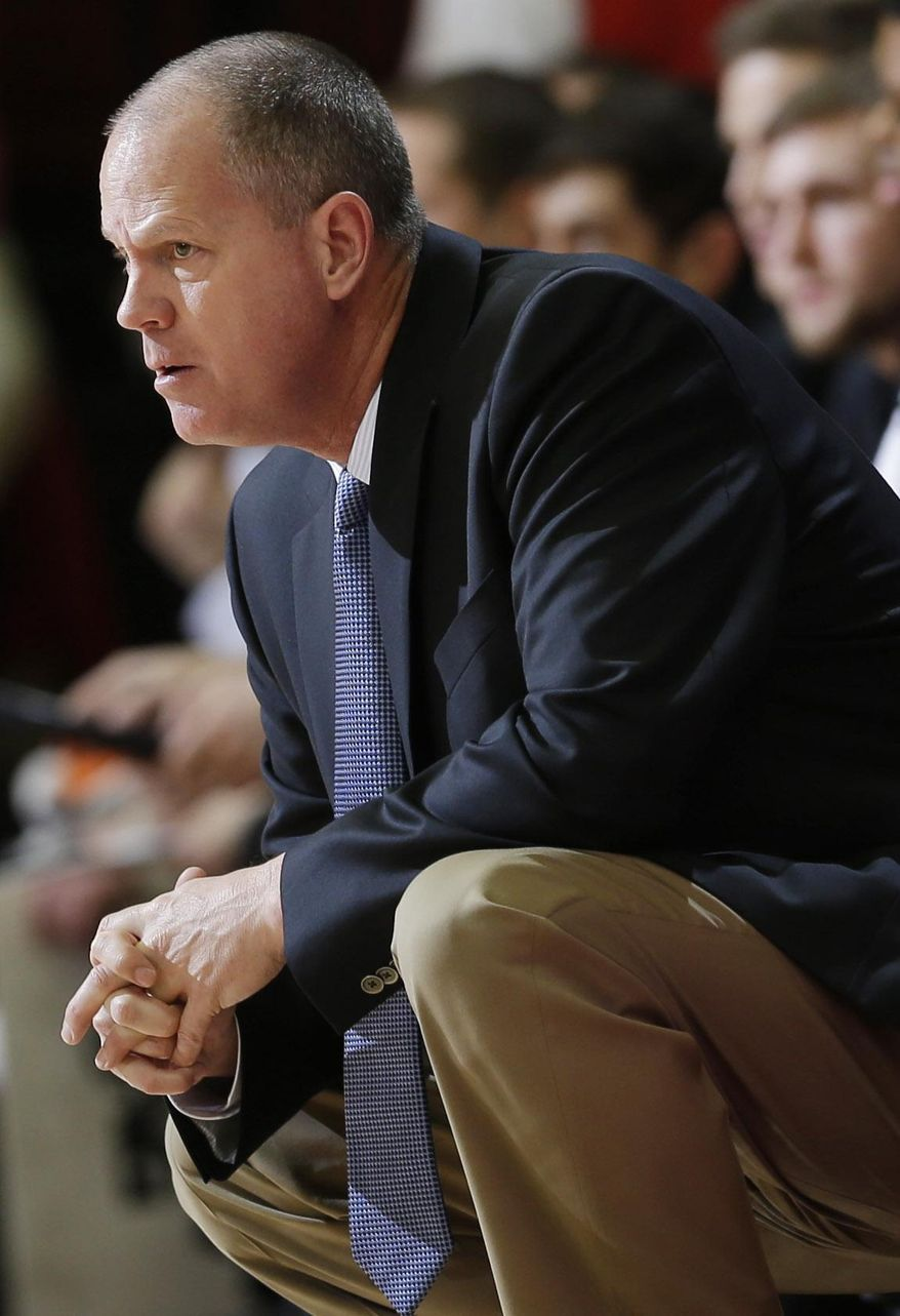 Colorado coach Tad Boyle watches his team play Stanford during the first half of an NCAA college basketball game Wednesday, March 5, 2014, in Stanford, Calif. (AP Photo/Marcio Jose Sanchez)