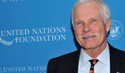 United Nations Foundation Founder and Chairman Ted Turner attends the United Nations Foundation Annual Leadership Dinner at the Waldorf-Astoria Hotel on Thursday, Nov. 18, 2010 in New York. (AP Photo/Evan Agostini)