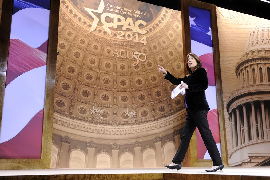 The Washington Times Deputy Editor Tammy Bruce moderates a panel about Why Conservatism is Right for Women: How Conservatives Should Talk About Life, Prosperity & National Security during the CPAC2014 at The National Harbor, Md. (Preston Keres/Special for The Washington Times)