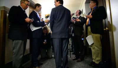 Rep. Pat Garofalo, R-Farmington, talks to the media after he apologized for a tweet on Monday, March 10, 2014, in St. Paul, Minn. Garofalo suggested in a tweet Sunday night that pro basketball players have criminal tendencies. (AP Photo/The Star Tribune, Glen Stubbe)  MANDATORY CREDIT; ST. PAUL PIONEER PRESS OUT; MAGS OUT; TWIN CITIES TV OUT
