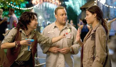 "** FILE ** From left, Ken Jeong, Kevin James and Rosario Dawson co-star in ""Zookeeper,"" which is unlikely to make anyone forget Dr. Doolittle. (Columbia Pictures)"