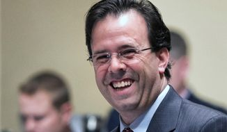 """In this May 3, 2013 photo, Minnesota Republican Rep. Pat Garofalo is shown at the State Capitol in St. Paul, Minn. Garofalo sent a tweet Sunday, March 9, 2014 that read: """"Let's be honest, 70% of teams in NBA could fold tomorrow + nobody would notice a difference w/ possible exception of increase in streetcrime."""" Within two hours of his tweet, more than 600 people retweeted it , with many on social media calling it racist. (AP Photo/Minneapolis Star-Tribune, Glen Stubbe)"""