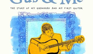 """This book cover image released by Little, Brown Books for Young Readers shows the upcoming children's book """"Gus & Me: The Story of My Granddad and My First Guitar,"""" by Keith Richards and art by Theodora Richards. The book will be released on Sept. 9, 2014. (AP Photo/Little, Brown Books for Young Readers)"""