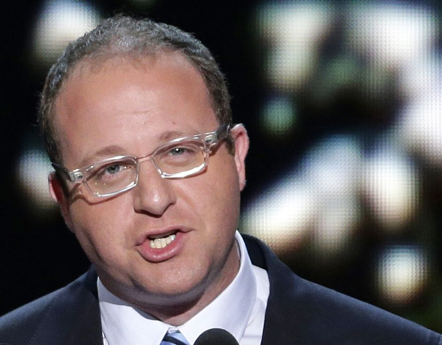 Rep. Jared Polis, Colorado Democrat, addresses the Democratic National Convention in Charlotte, N.C., on Sept. 4, 2012. (Associated Press) **FILE**